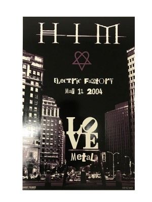 HIM - Limited edition print from first US Tour (Electric Factory)