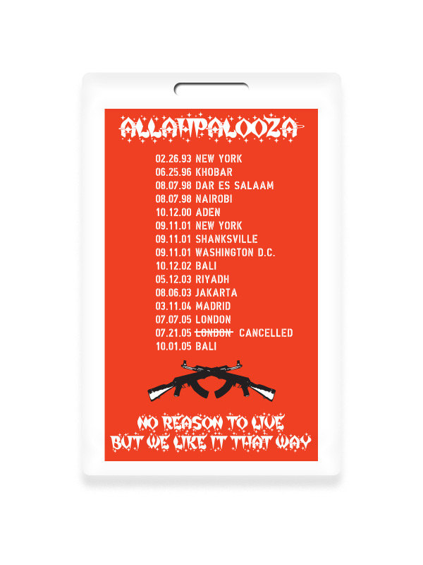 2005 Allahpalooza World Tour Laminate