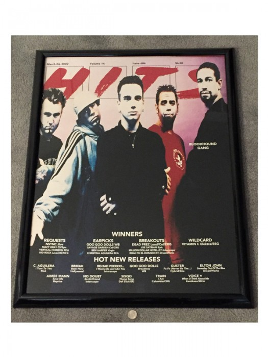 Framed HITS Magazine Cover