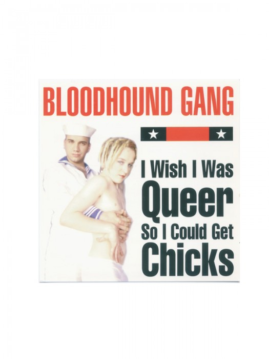 1997 I Wish I Was Queer So I Could Get Chicks Postcard