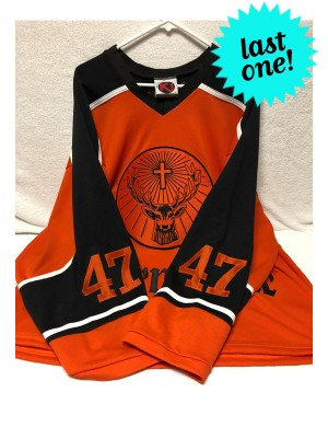 Vintage 2000s Custom One-Of-A-Kind Jägermeister Lüpüs Thünder Hockey Jersey (Large Only)