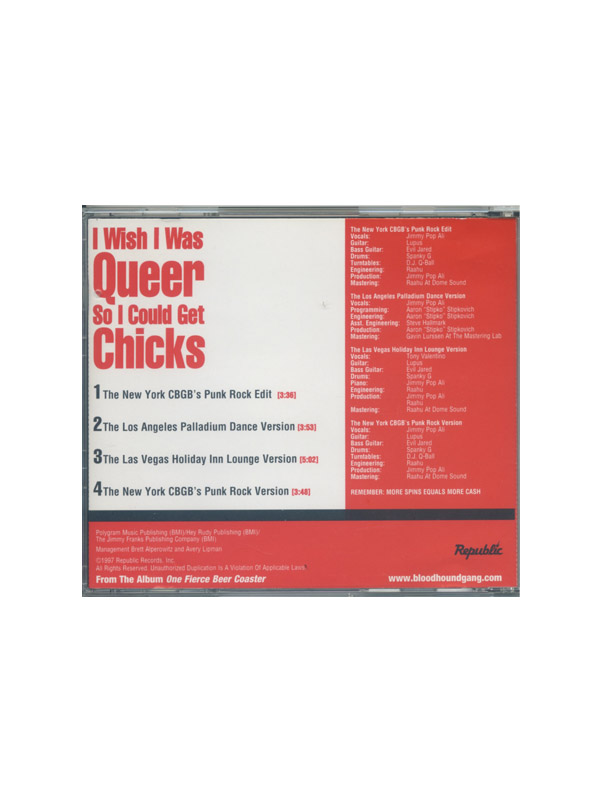 I Wish I Was Queer... Promotional CD Single