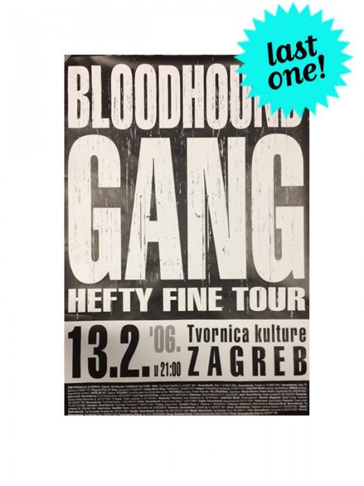 Hefty Fine Tour Zagreb Poster