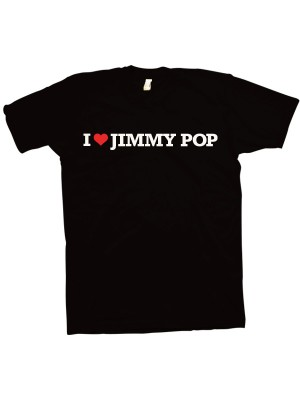 I Love Jimmy Pop T-Shirt (Black)
