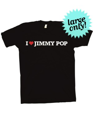 I Love Jimmy Pop T-Shirt For Girls (Large only)