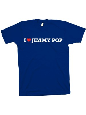 I Love Jimmy Pop T-Shirt (Blue)